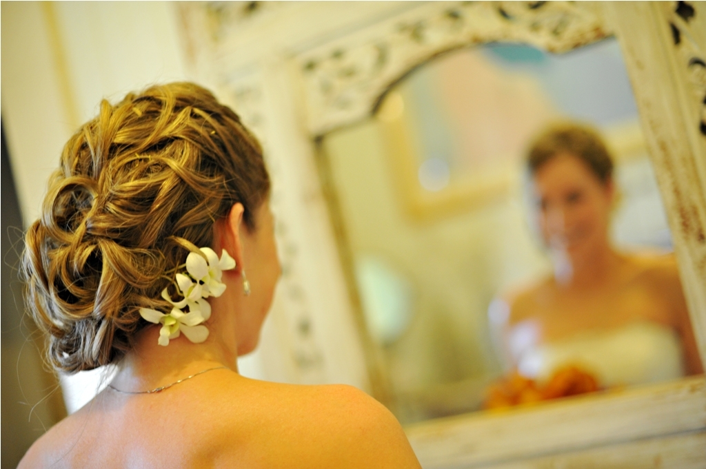 Maui Wedding Stylist  by Beth Bridal Hair Photo by: Sean M Hower